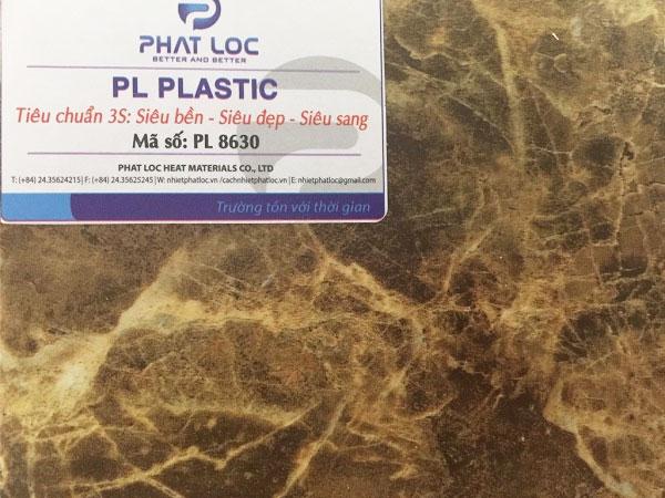 Tấm PVC vân đá PL-8630 (Marble nâu cà phê)
