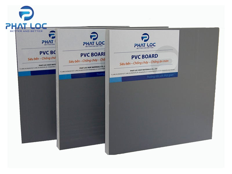 Tấm nhựa PVC màu ghi
