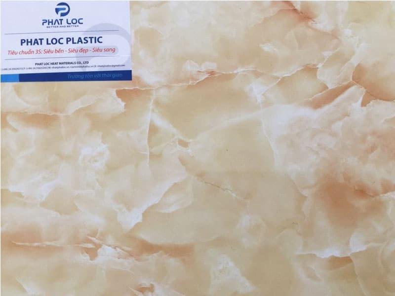 Tấm PVC vân đá PL-8614 (đá marble vàng)