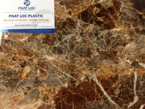 Tấm PVC vân đá PL-8618 (Nâu kim latte)