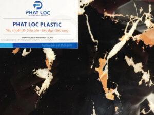 Tấm PVC vân đá PL-8619 (Đen Kim Long)
