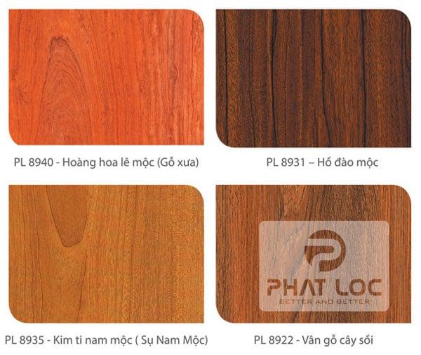 Mẫu PVC vân gỗ Phát Lộc sản xuất