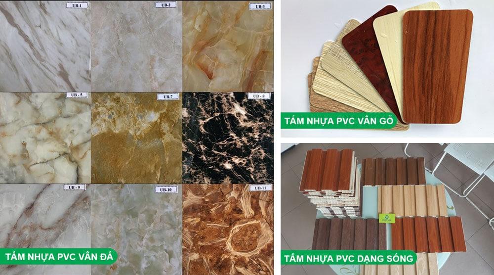 Các loại tấm nhựa ốp tường phổ biến hiện nay