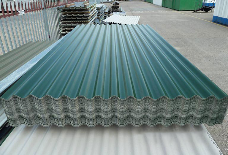 Wavy is the characteristic shape of roofing sheets