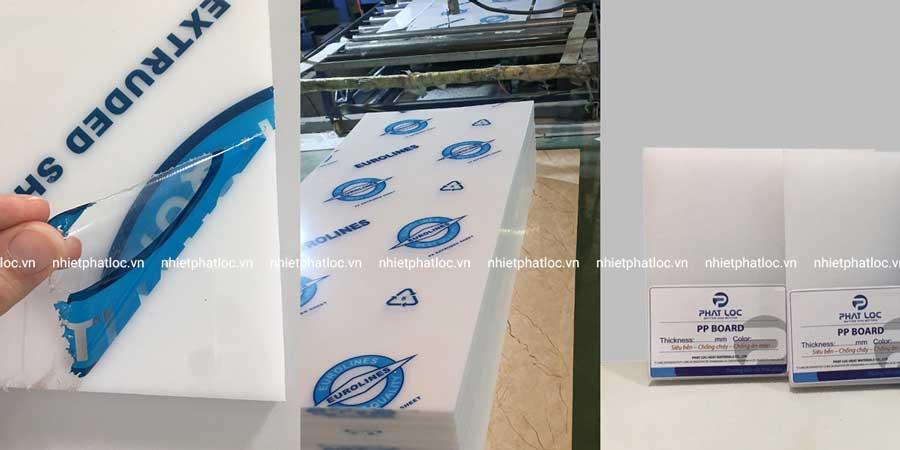 Tấm nhựa PP trắng do Phát Lộc sản xuất