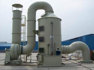 Tháp xử lý khí thải bằng nhựa PP