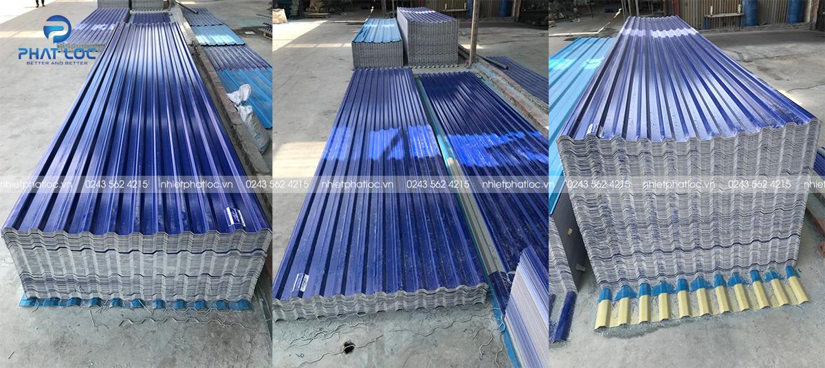 Tôn nhựa PVC/ASA 11 sóng vuông